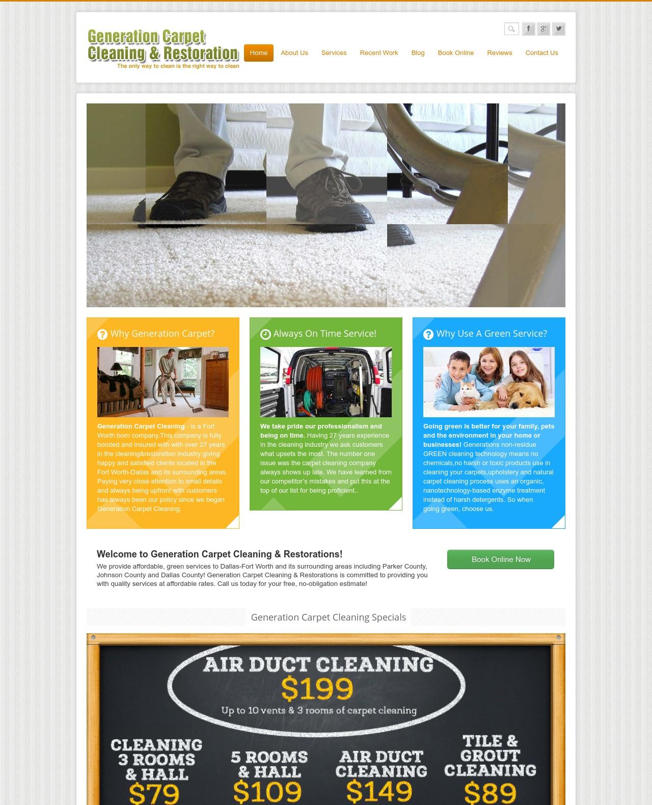Generation Carpet Cleaning FW Portfolio